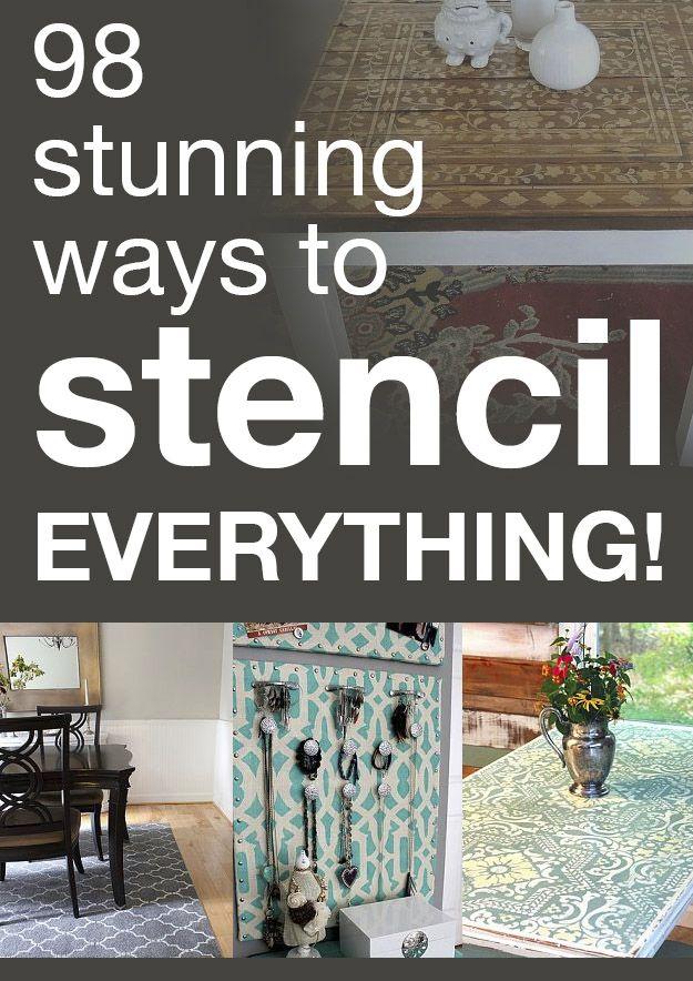 98 stunning ways to stencil everything