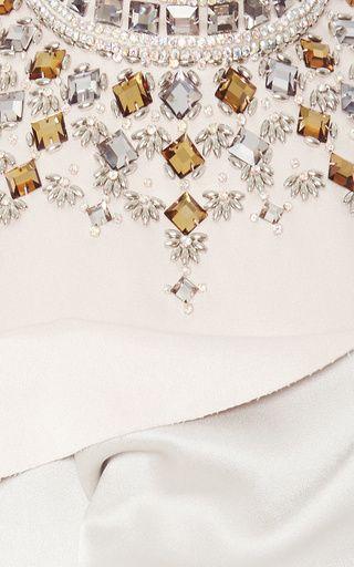Embellished Draped Satin Crop Top by Marni for Preorder on Moda Operandi