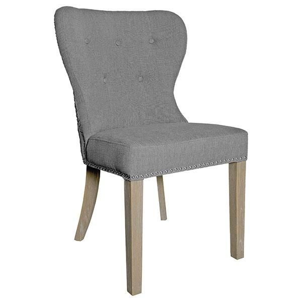 Luxe Daisy Upholstered Dining Chair Pair Upholstered Dining