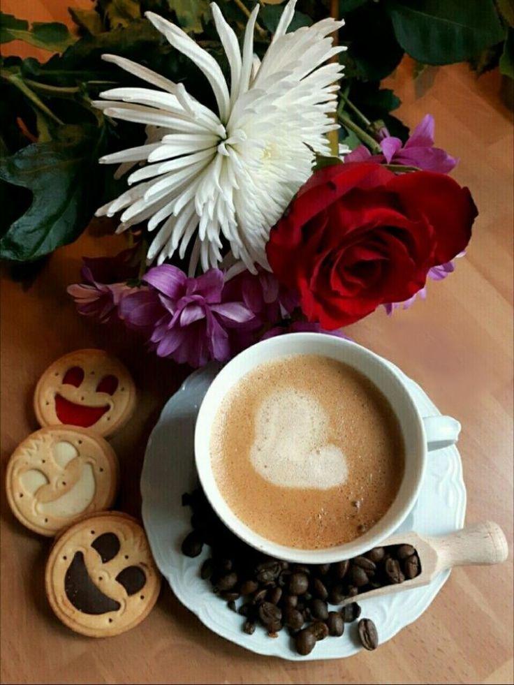 Картинки с добрым утром и кофе утренняя, для
