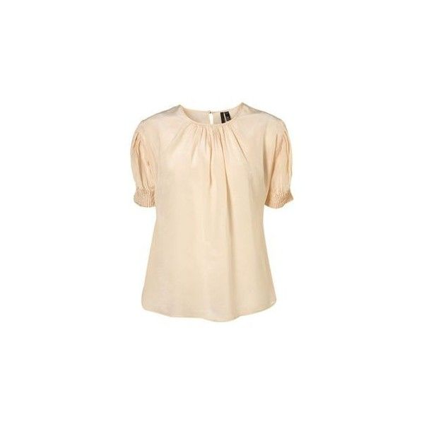 3. Topshop Boutique Cream Silk Blouse ❤ liked on Polyvore featuring tops, blouses, silk blouse, pink top, topshop tops, topshop blouses and pink silk top