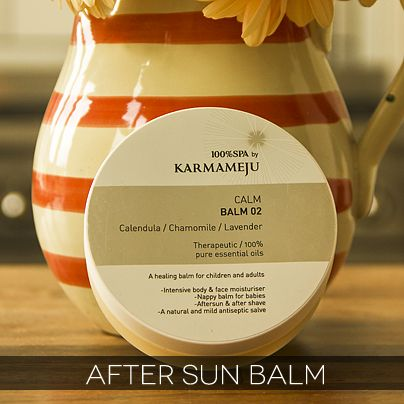 Karmameju - Calm Balm. Therapeutic Healing Balm perfect for after sun, after shave, as lip balm or nipple salve!