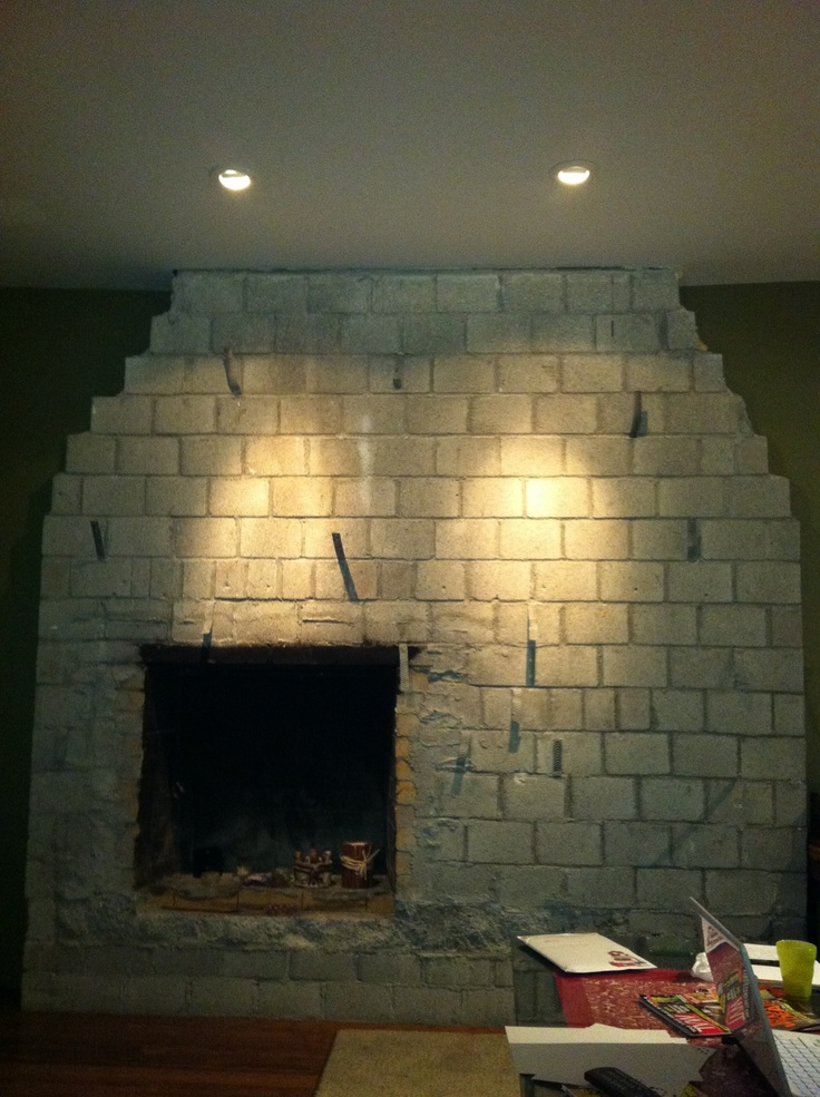 Here's where I was stuck; how do you put a mantel on, and a TV centered above, and have the fireplace below offset, and make it look balanced?