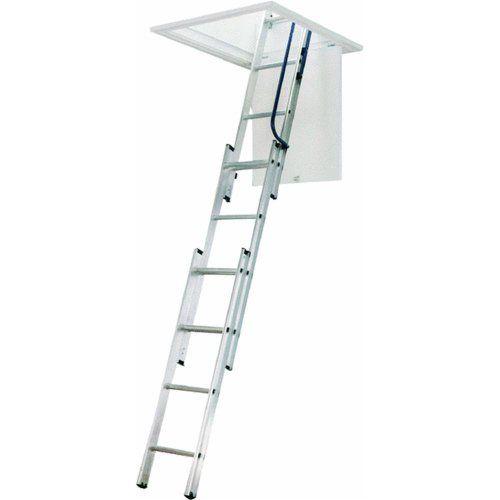 WERNER LADDER AA1510 Ladder Aluminum Attic, 250 lb.