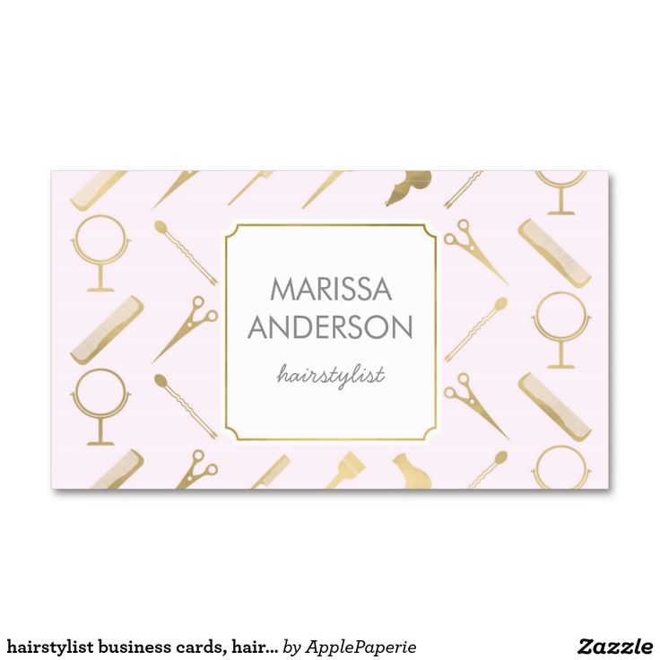hairstylist business cards, hairdresser, makeup business card