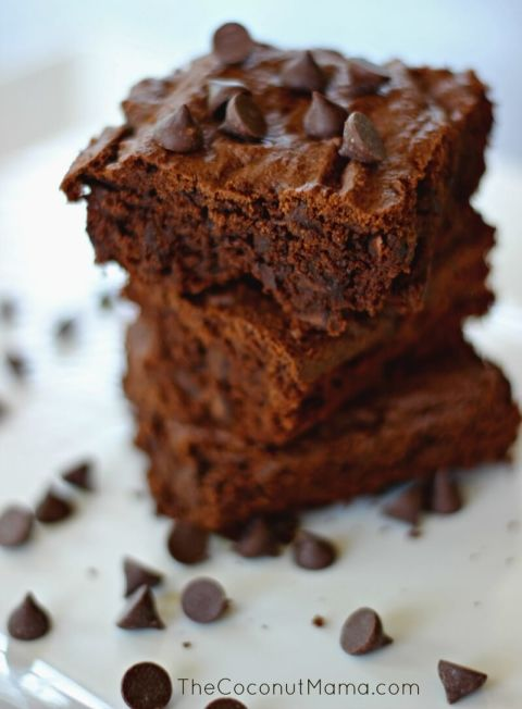 Double Chocolate Coconut Flour Brownies - from coconutmama