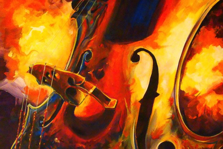 cello images in art | Hot jazz on a cello can have this effect. Art by Evilistical, © the ...