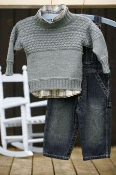 Sømandssweater - strikkeopskrift