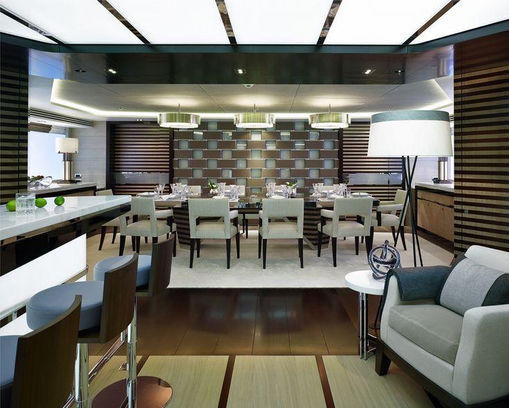 Luxury Interior of Galactica Star Superyacht - David Churchill Superyacht Photographer