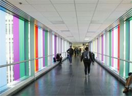 Artist Daniel Buren Brings Dazzling Color to Hunter Skyways — Hunter College