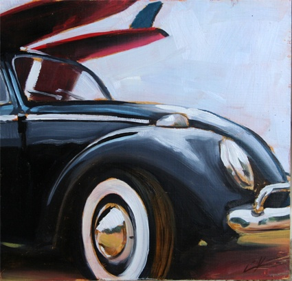 #VW Beetle #VW #surf #beach #surfboards #oil_painting #beetle #punch_buggy