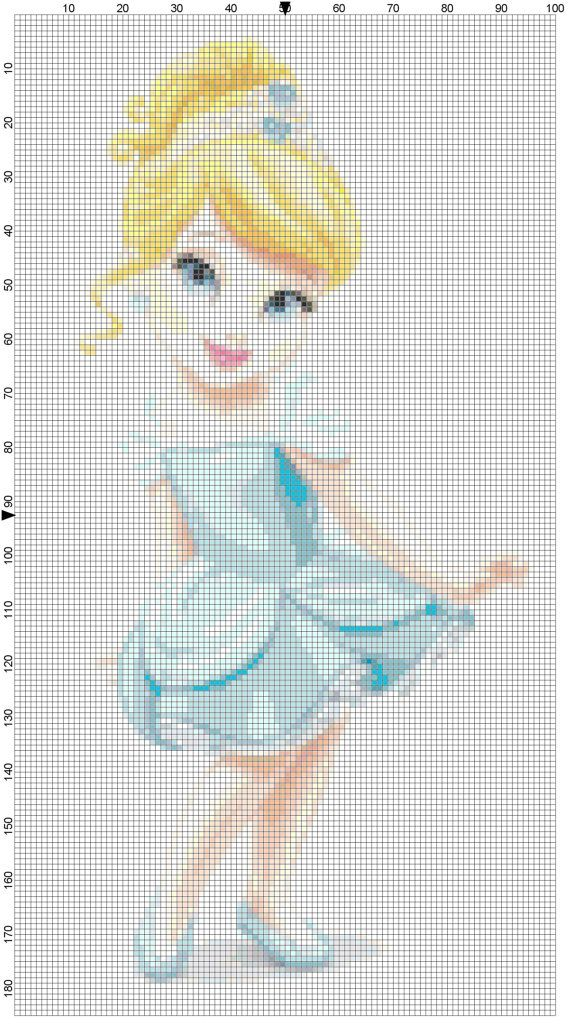 Mini Cinderella cross stitch pattern PDF on Etsy, $1.97