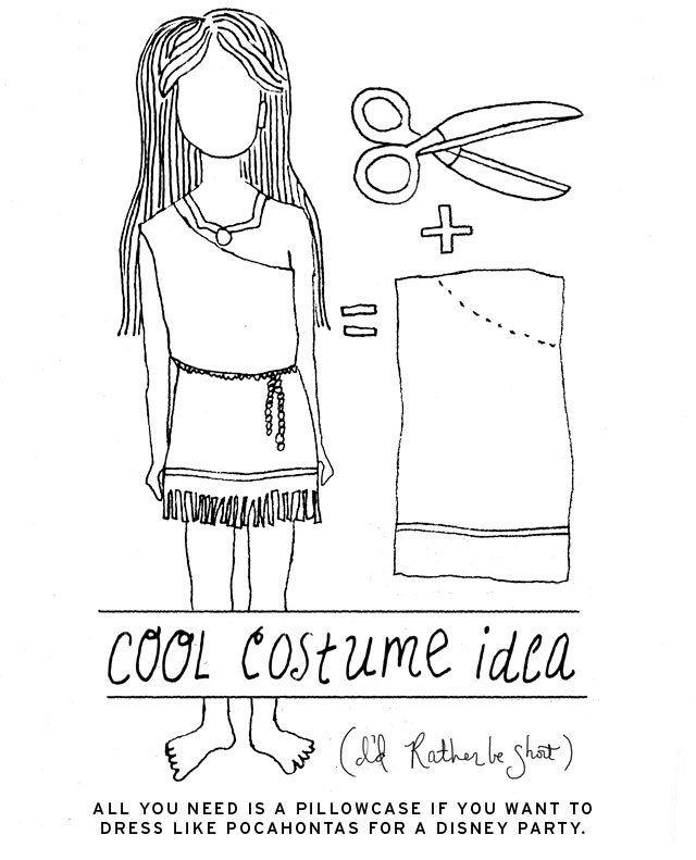 Make an easy #DIY #Halloween costume iwth a pillowcase (indian princess, toga...)