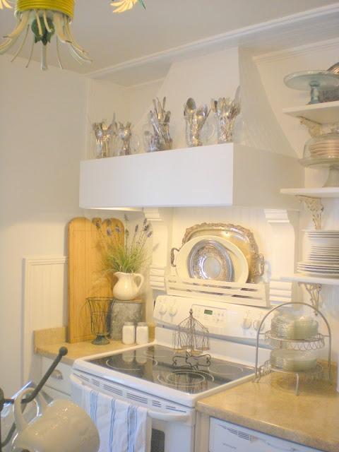 Remodelaholic | French Farm Style Kitchen Renovation hood!!