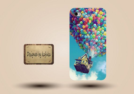 unique iphone case, i phone 4 4s 5 case,cool cute iphone4 iphone4s  5 case,stylish plastic rubber cases cover,balloon house  fly  p944 on Etsy, $12.99