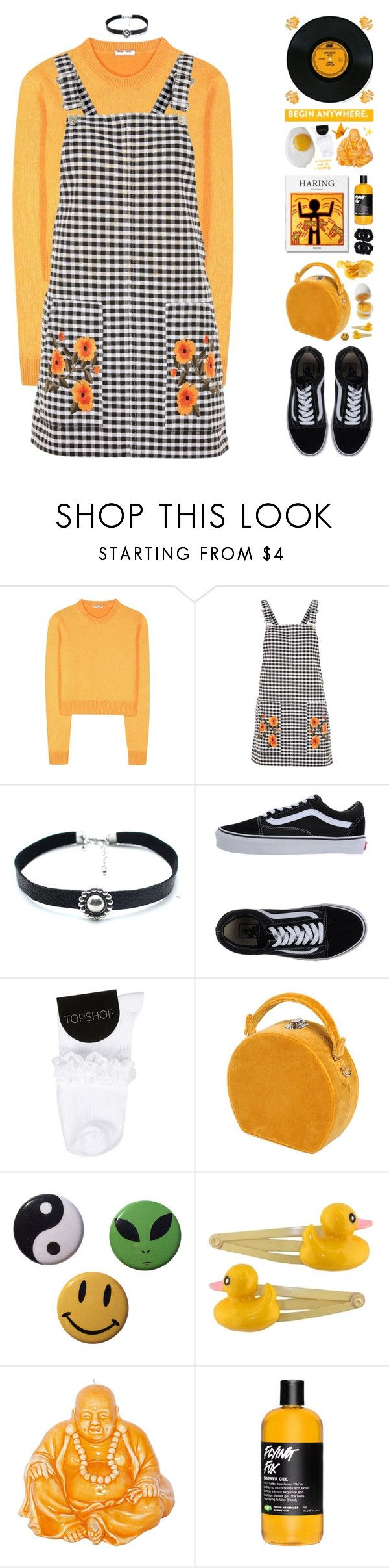 """[ BLOOMING ]"" by pastelmalfoy ❤ liked on Polyvore featuring Miu Miu, Topshop, Child Of Wild, Vans, Bertoni, Clips, Mario Luca Giusti and Accessorize"