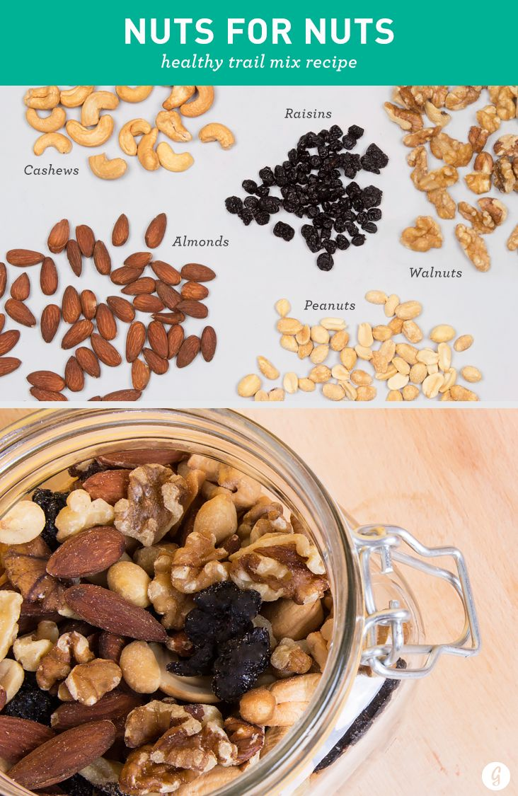 Got a case of the munchies? Snack on one of these healthy, tasty trail mixes. #healthy #trailmix #recipes http://greatist.com/health/21-healthier-trail-mix-ideas
