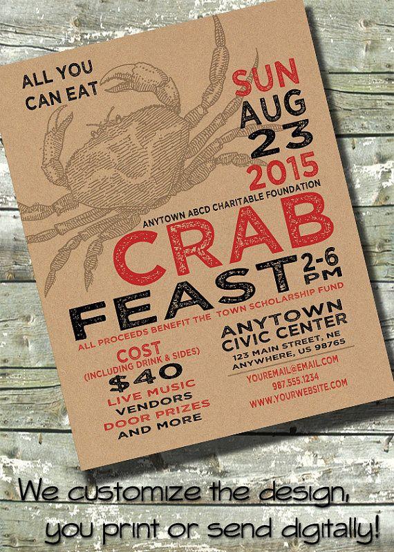 CRAB FEED Boil Fest Feast Party Church or by DitDitDigital