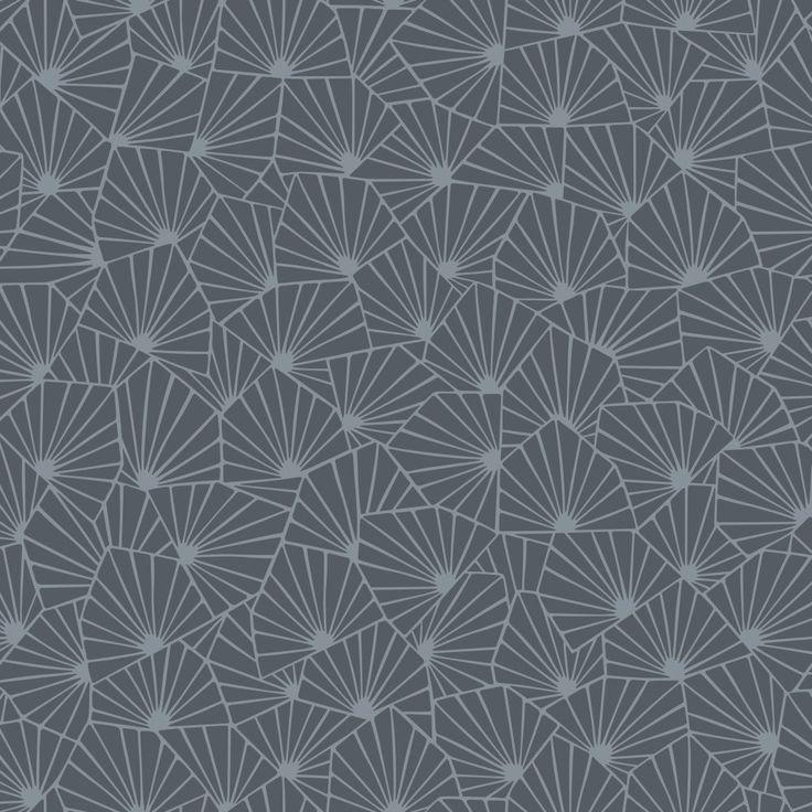 Stjärnflor Charcoal wallpaper by Boråstapeter