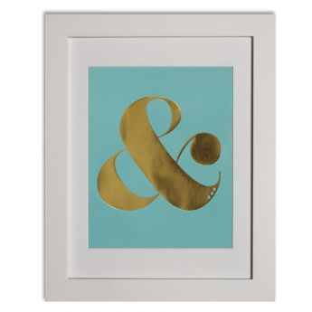 Ampersand - duck egg blue  Papier d'Amour foiled prints range http://www.papierdamour.com.au/shop-by-category/foiled-prints.html