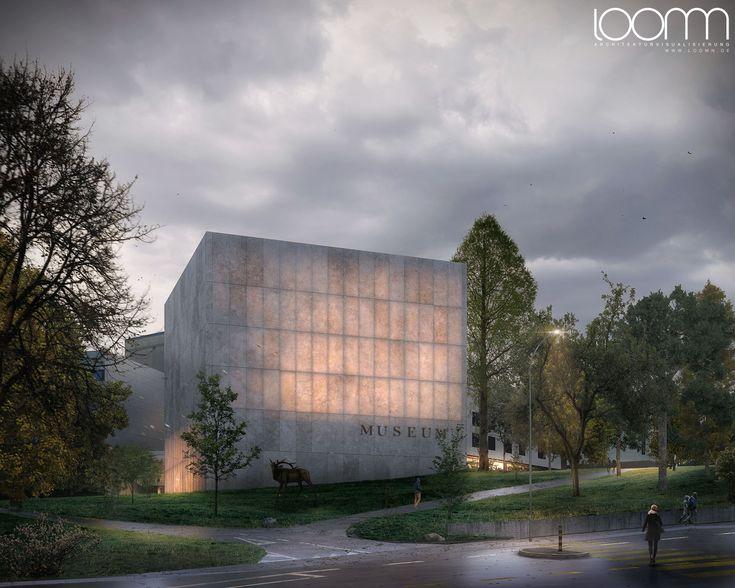 170928-3d-Design-Architektur-MAK-Museum-Genf-Exterior.jpg Architecture Visualisation loomn 3D Visual Illustration Archviz Render Office Visualisierung loomn.de competiton first prize