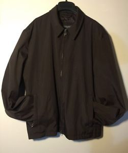 Banana Republic Mens Jacket Coat Polyester Large Brown Lightweight | eBay