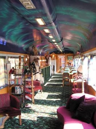 The Aurora-Express is a Bed and Breakfast in Fairbanks, Alaska housed in authentic Alaska Railroad cars renovated to historical periods.