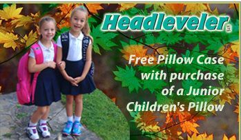 Free Pillow Case with your purchase of a Junior Pillow!  http://www.headleveler.com/order/?pg=junior
