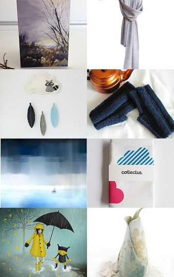 A Walk in the Rain by Anita T. on Etsy--Pinned with TreasuryPin.com