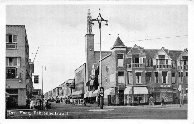 Den Haag, Fahrenheitstraat, postally used in 1953 to Ontario, Canada.