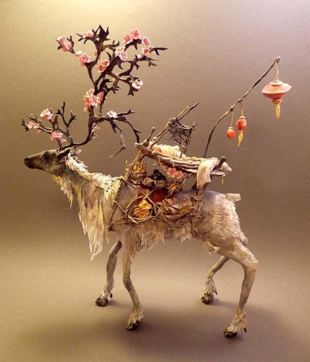 Best Ellen Jewett Images On Pinterest Sculptures Animal - Surreal animal plant sculptures ellen jewett
