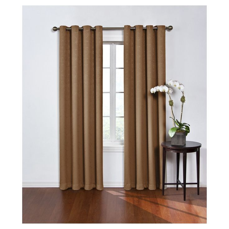 """Round & Round Thermawave Blackout Curtain Tan (52""""x84"""") Eclipse"""