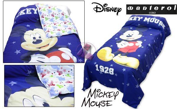 Edredón Disney azul oscuro. Producto oficial Disney.