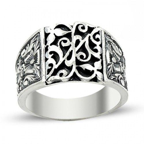 Erkek Yüzük - Erzurum El Işi Gümüş Erkek Yüzüğü