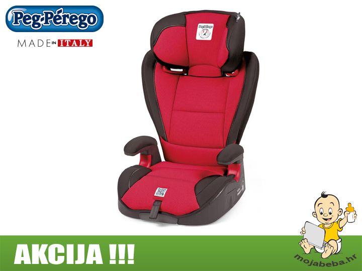 Na AKCIJI !!! Peg Perego Viaggio 23 Surefix AUTOSJEDALICA za dijete od 15 - 36 kg težine u crno/crvenoj kombinaciji.