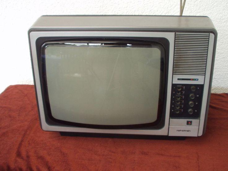 Fernseher Farb-TV von ROBOTRON DDR TV-Gerät - den hatte ich auch in stylisch rot!