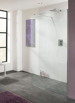 Cannes › Frameless Walk-In Shower Enclosures › Coastline Collection › Lakes Bathrooms 800mm x 2000mm - £322 + bracing bar (£42)