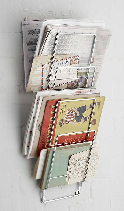 15 best images about newspaper rack on pinterest wall for Magazine racks for home