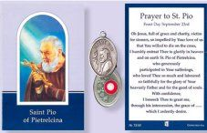 Prayer Booklet to St. Pio with Relic Medal.