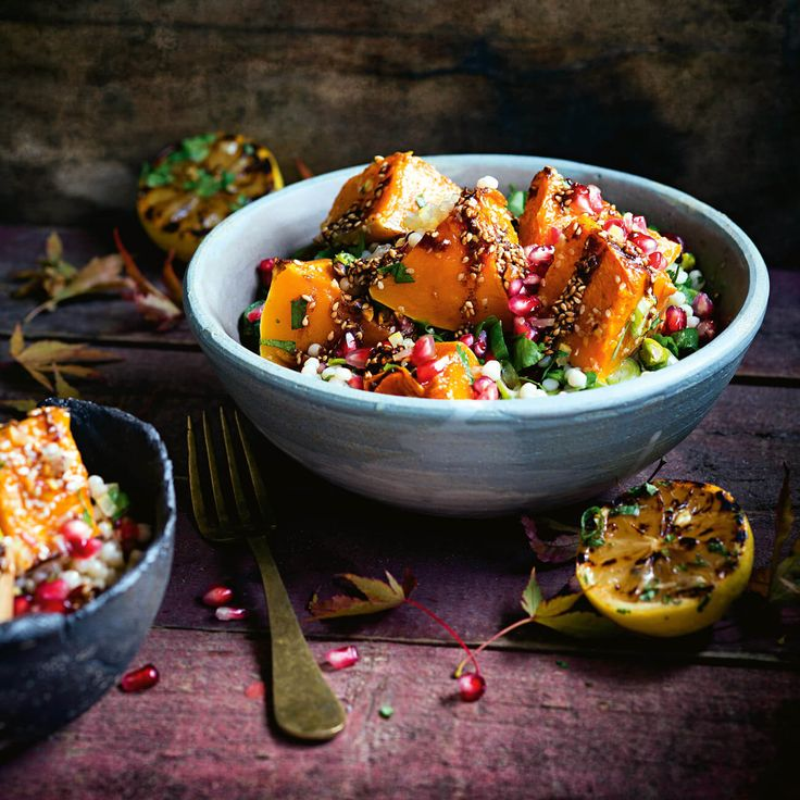 Try our easy to follow roast pumpkin with pearl couscous & pomegranate recipe. Absolutely delicious with the best ingredients from Woolworths.