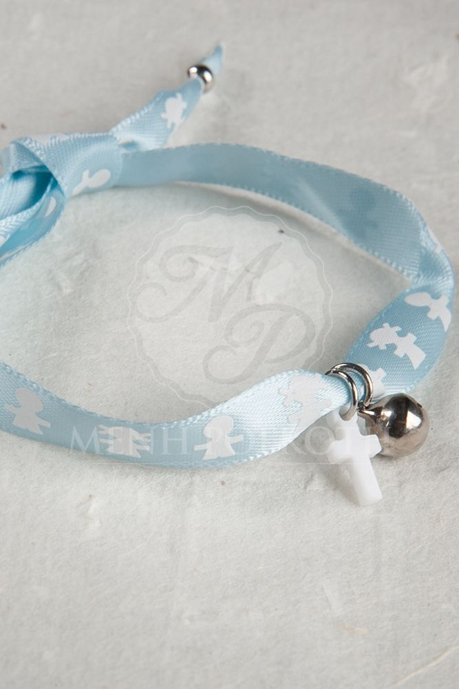 Witness bracelets light blue satin ribbon