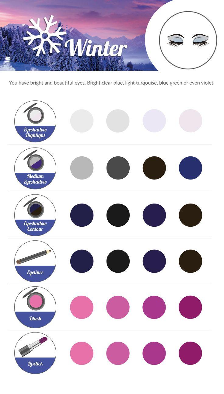 WINTER Make-up Colour Chart.