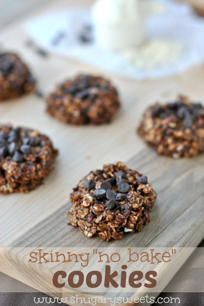 Skinny No Bake Cookies: made with banana, oatmeal, chocolate, peanut butter and they taste absolutely amazing!!! #nobake #skinny (remove sugar add splenda)