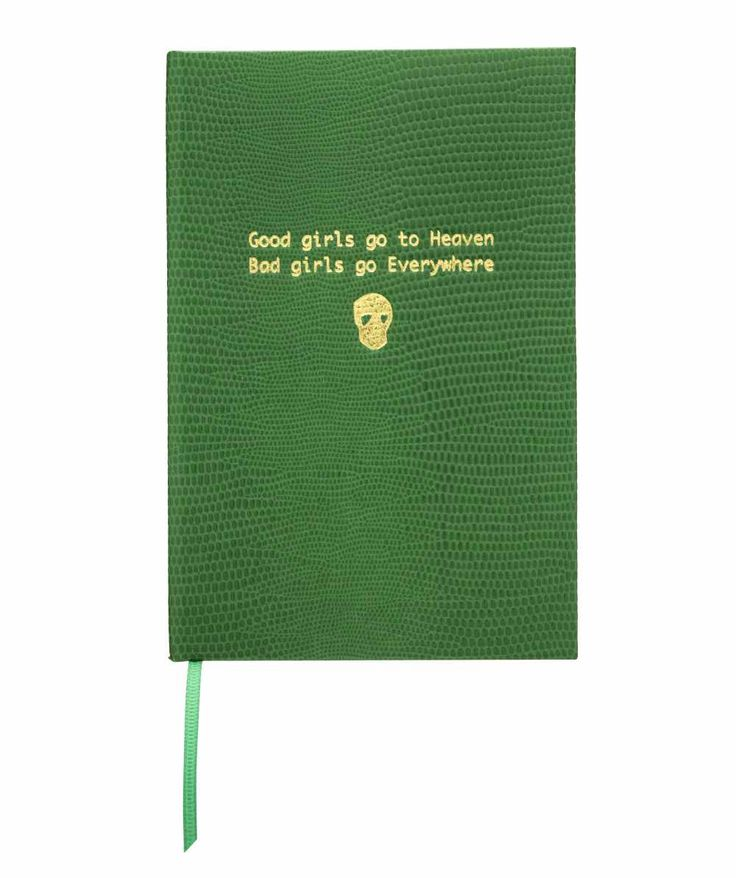 "Cuaderno A6 ""Good girls go to heaven, bad girls go everywhere"" Disponible en: http://vbinspiration.com/disenadores/sloane-stationery/agenda-a6-good-bad-girls.html"