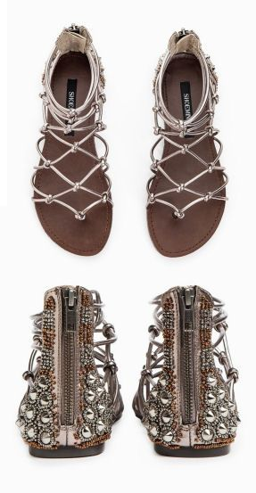 Boho Studded Gladiator Sandals <3 Loving the Detail on these!