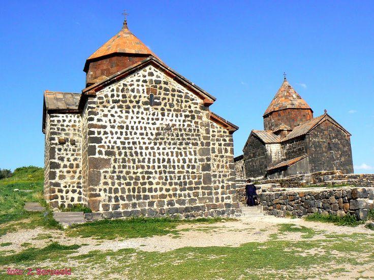 Sevan Monastery - Church Our Lady  and on  right the Holy Apostles (Kośc. Matki Bożej i św. Apostołów)