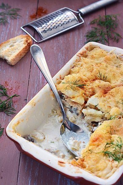 Инна - Картофельная запеканка с курицей и грибами