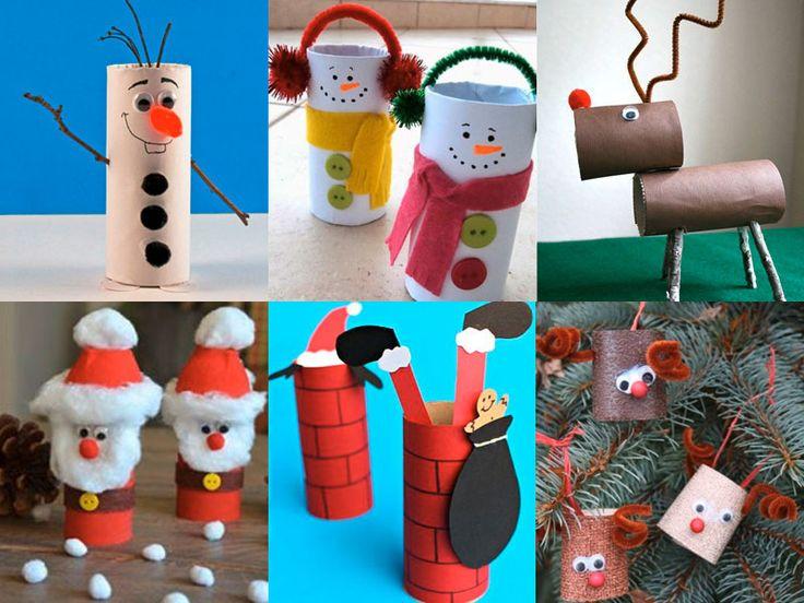 A partir d\'aujourd\'hui, on ne jette plus les rouleaux de papier-toilette ! On les recycle avec ces bricolages malins qui vont ravir vos lutins en cette période de Noël. Découvrez nos idées dénichées sur Pinterest… c\'est cadeau !