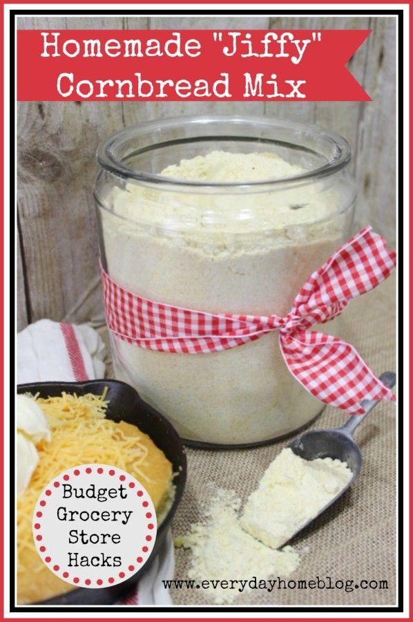 Homemade Cornbread Mix by The Everyday Home |  www.everydayhomeblog.com |  #HomeHacks