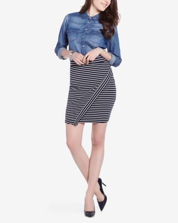 Striped Skirt #reitmans Summer 2016